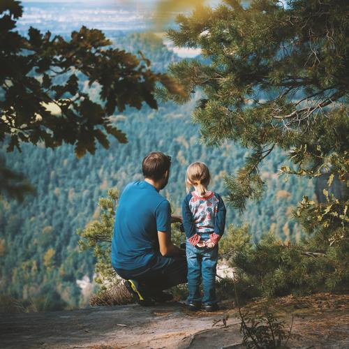 Human being Child Joy Forest 18 - 30 years Life Autumn Feminine Family & Relations Happy Leisure and hobbies Hiking Infancy Vantage point Study Footpath