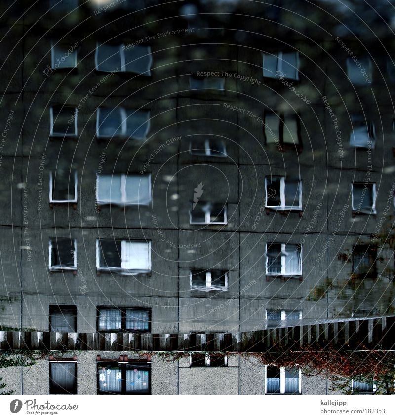 Water House (Residential Structure) Life Wall (building) Window Sadness Wall (barrier) Building Rain Architecture Flat (apartment) Concrete High-rise Facade Living or residing