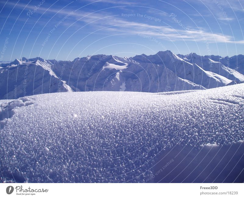 Winter Snow Mountain Alps Peak Austria Mountain range High mountain region Sölden