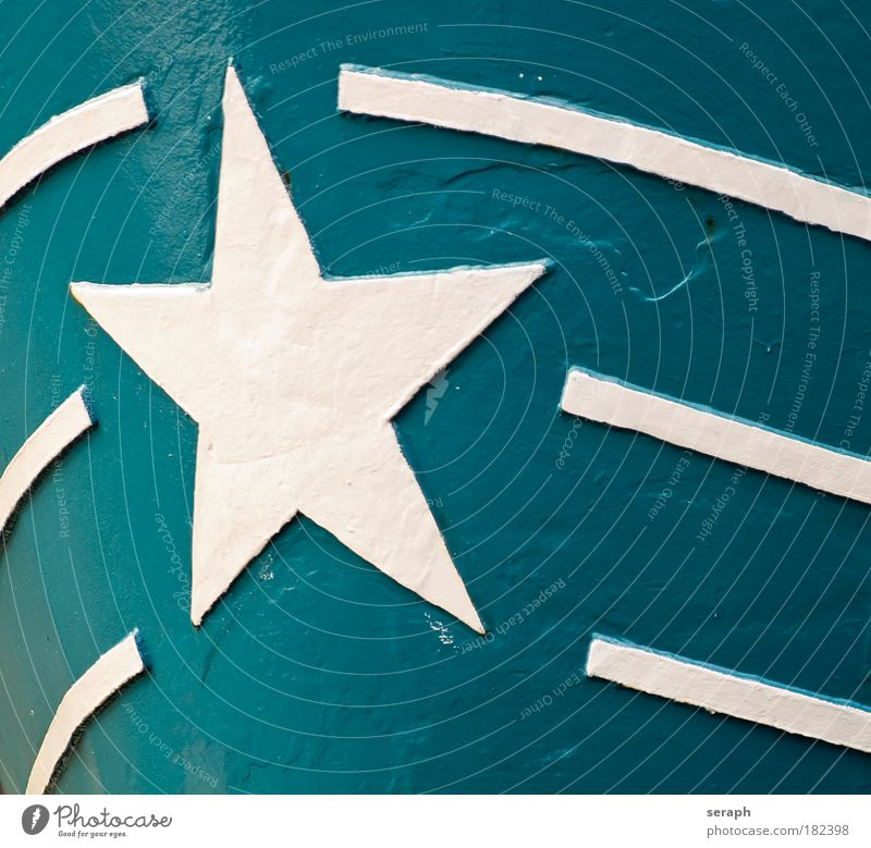 Star Ship Stars shaped illustration striking Metal Welding seam Iron plate Paintwork Watercraft Detail Hull bow symbol Pictogram Contrast Silhouette Prongs