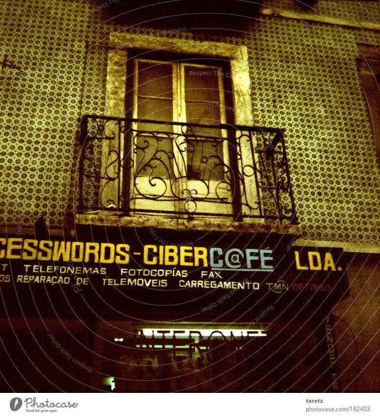 Old Green City House (Residential Structure) Far-off places Dark Door Instant messaging Elegant Facade Poverty Modern Characters Future Internet Decoration
