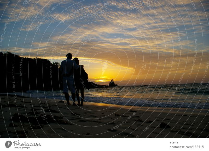 Nature Water Sun Ocean Summer Beach Vacation & Travel Love Far-off places Emotions Freedom Happy Couple Sand Coast Trip