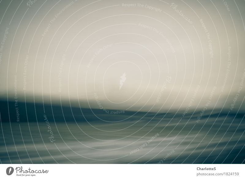 Ocean Winter Mountain Dark Cold Sadness Movement Snow Flying Dream Field Waves Dance Touch Infinity Painting and drawing (object)
