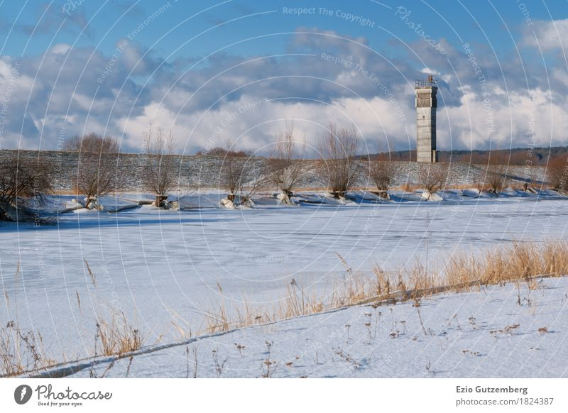 GDR border tower in winter in Mecklenburg Life Mecklenburg-Western Pomerania Germany Tower Manmade structures Tourist Attraction Politics and state Change