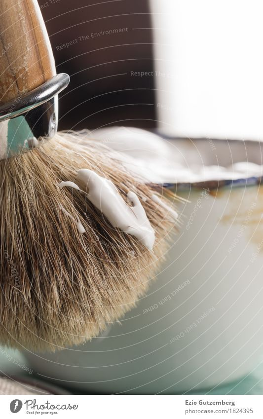 Man Beautiful Face Hair and hairstyles Masculine Elegant Success Bathroom Personal hygiene Facial hair Luxury Cosmetics Bowl Foam Beard