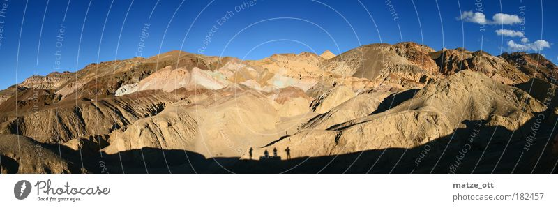 Panorama of a mountain Colour photo Exterior shot Copy Space top Day Shadow Silhouette Sunlight Panorama (View) Forward Environment Landscape Elements Earth