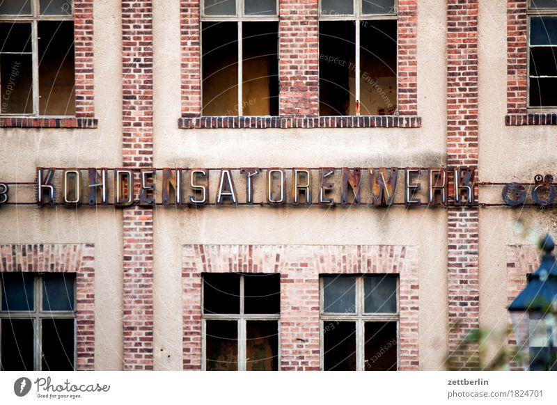 CAPACITOR PLANT Architecture Facade Window Front side goerlitz Historic Classical Small Town Lausitz forest Industry Industrial Photography Factory Works