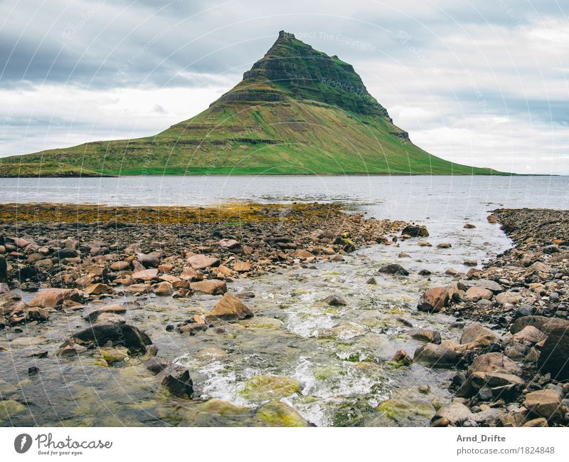 Kirkjufell - the most beautiful mountain in the world Vacation & Travel Tourism Trip Adventure Far-off places Nature Landscape Elements Earth Water Sky Clouds