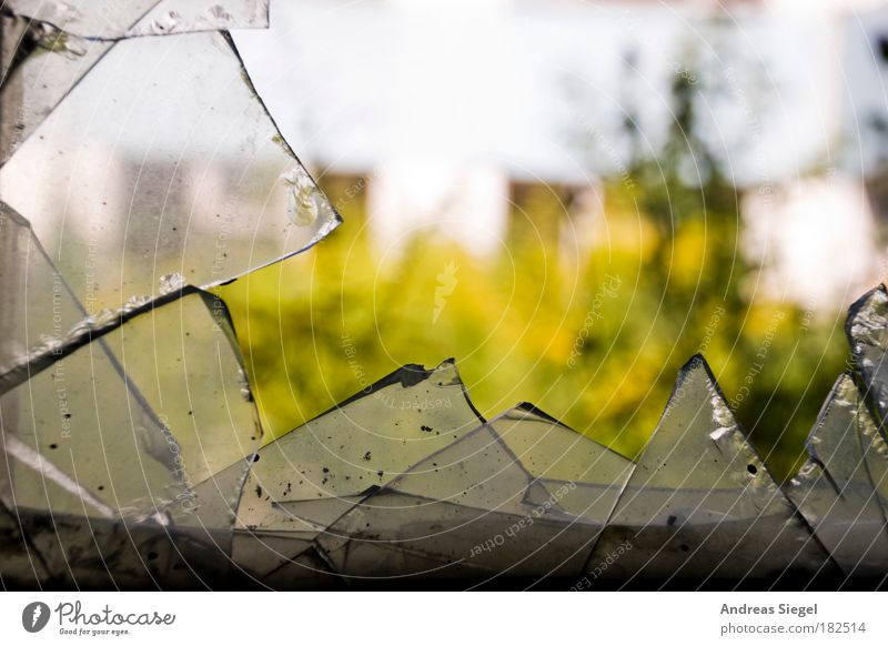Old House (Residential Structure) Window Building Glass Dirty Exceptional Broken Change Gloomy Transience Point Decline Destruction Window pane Sharp-edged
