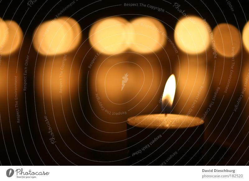 Christmas & Advent Beautiful Calm Black Yellow Brown Circle Candle Light Burn Cozy Flame Harmonious Contrast Reflection Wax