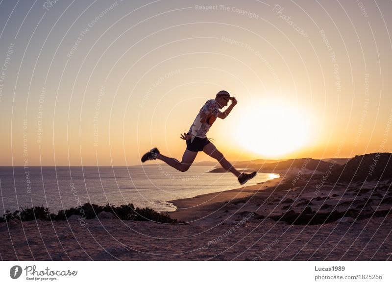 Human being Vacation & Travel Youth (Young adults) Man Summer Sun Young man Ocean Landscape Joy Far-off places Beach 18 - 30 years Adults Life Healthy