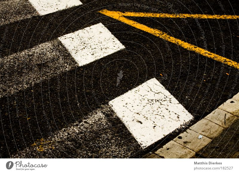 crosswalk Zebra crossing Line Street Road traffic Intersection Parking Parking space Station Stop (public transport) Pedestrian Brakes Sidewalk Curbside park