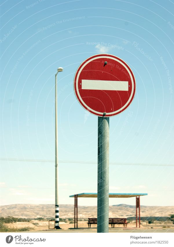 Sky Nature Landscape Street Art Wait Speed Signage Break Bench Observe Desert Stop Lantern Street lighting Mobility