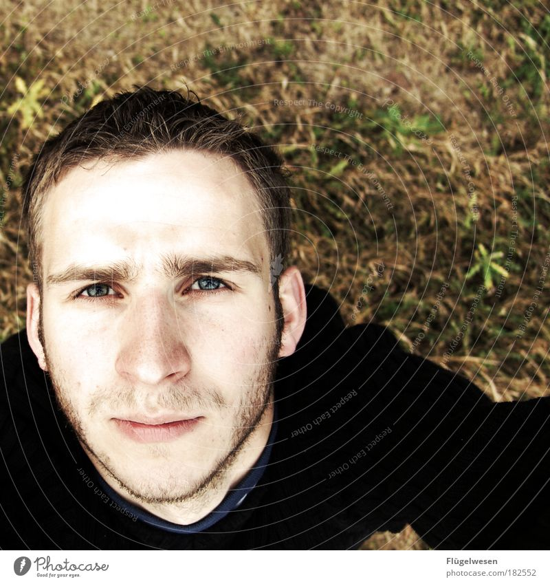 two hundredth - silent joy! Colour photo Exterior shot Masculine Young man Youth (Young adults) 1 Human being 18 - 30 years Adults Environment Nature Landscape