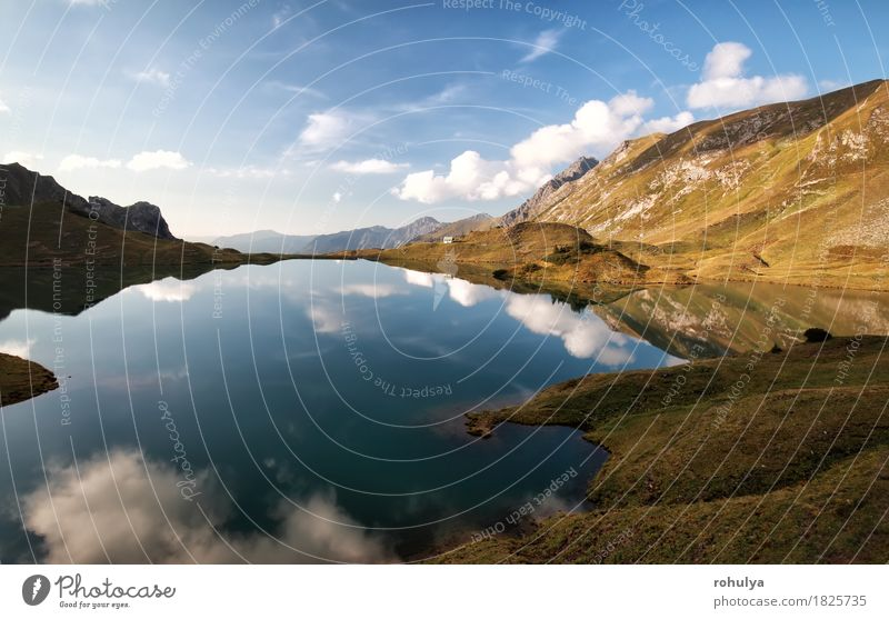 alpine lake with reflected blue sky, Alps, Germany Sky Nature Blue Landscape Clouds Mountain Meadow Autumn Stone Lake Rock Vantage point Europe Seasons