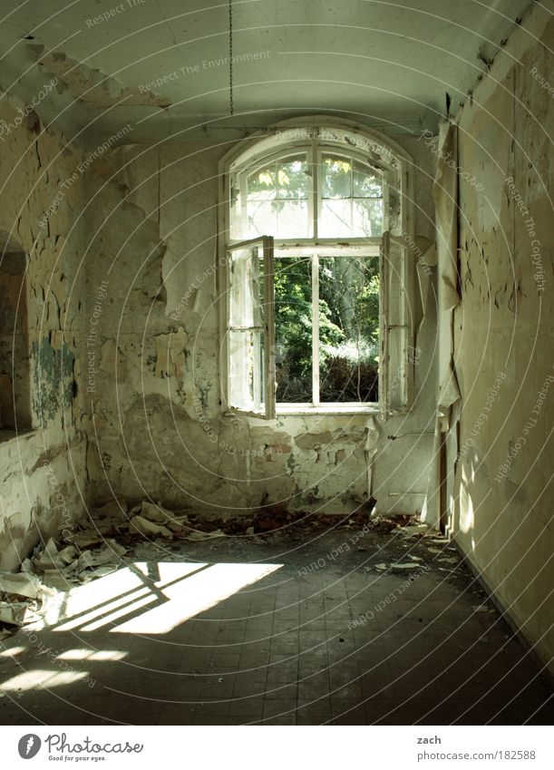 Old House (Residential Structure) Wall (building) Window Stone Wall (barrier) Building Room Dirty Architecture Flat (apartment) Glass Concrete