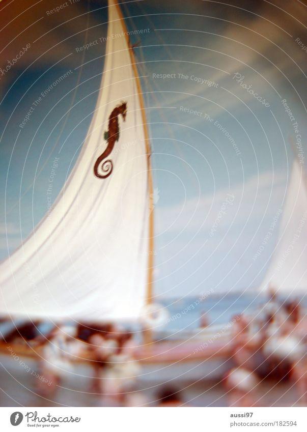 Her name is Rio Sailboat Watercraft Seahorse Sailing ship swimming test Blur