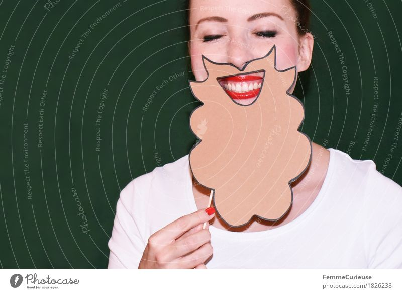 Rauschebart_1826238 Lifestyle Style Feminine Young woman Youth (Young adults) Woman Adults Human being 18 - 30 years Joie de vivre (Vitality) Facial hair Funny