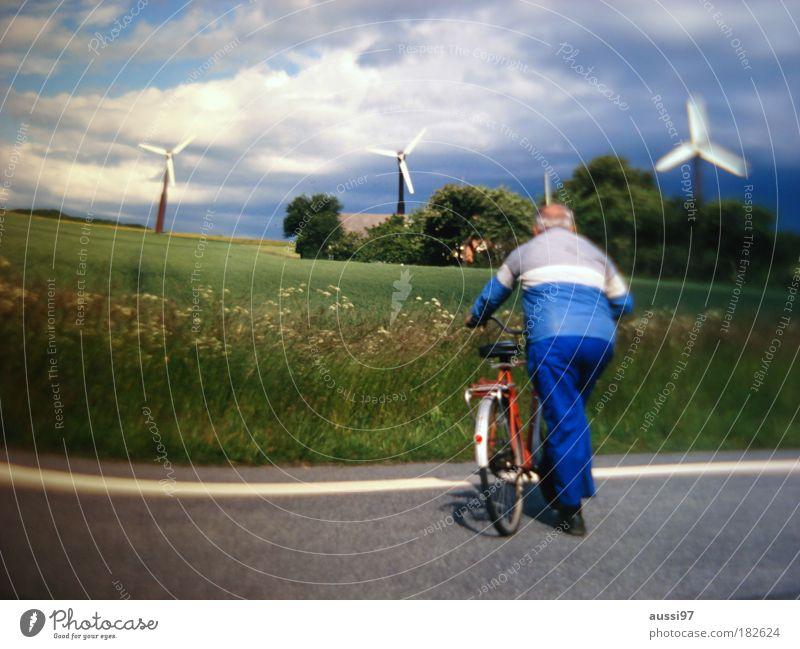 Balloon silk. Get dressed. Wind energy plant balloon silk Energy industry Energy crisis Renewable energy Senior citizen