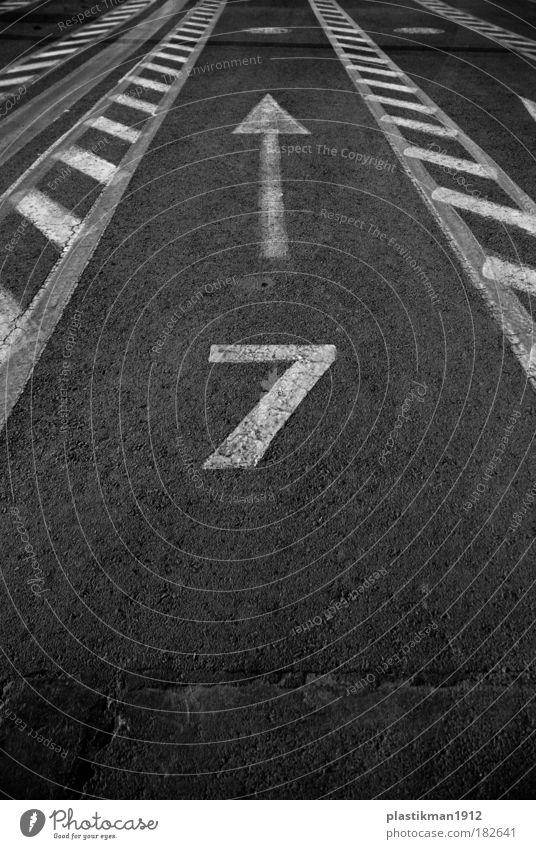 8 Black & white photo Exterior shot Detail Sign Digits and numbers Road sign Symmetry Lucky number