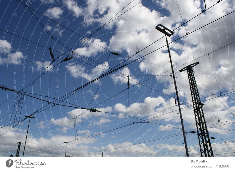 Water Sky White Blue Summer Black Clouds Air Metal Energy Europe Energy industry Electricity Network Technology Communicate