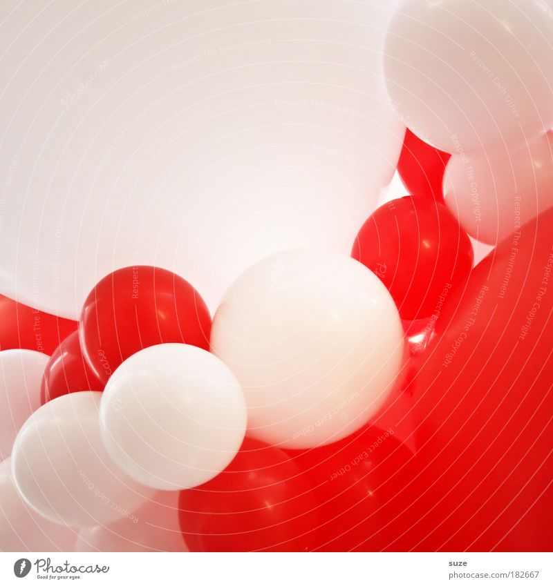 White Red Joy Colour Playing Air Feasts & Celebrations Abstract Infancy Leisure and hobbies Birthday Arrangement Balloon Jubilee Kitsch Claustrophobia