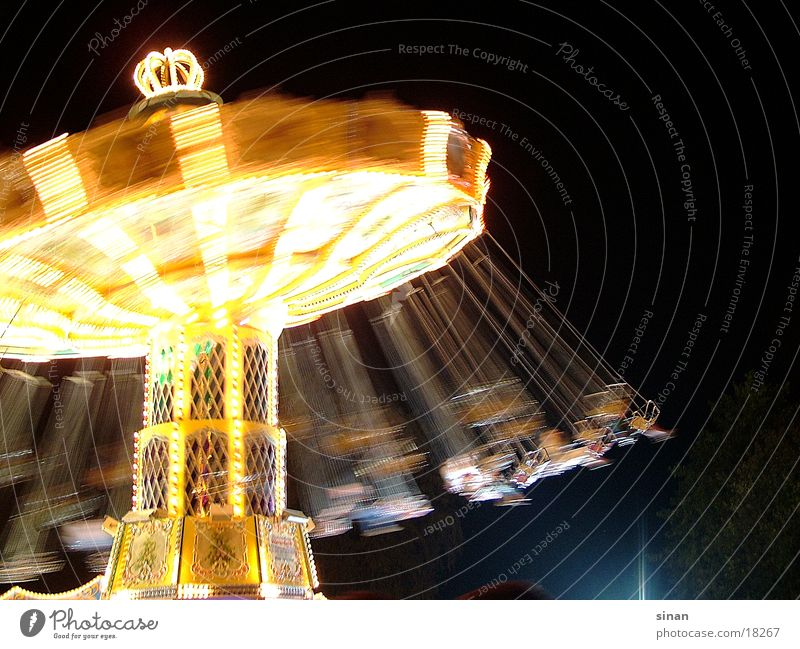 Dark Bright Leisure and hobbies Fairs & Carnivals Rotate Carousel Theme-park rides Chairoplane