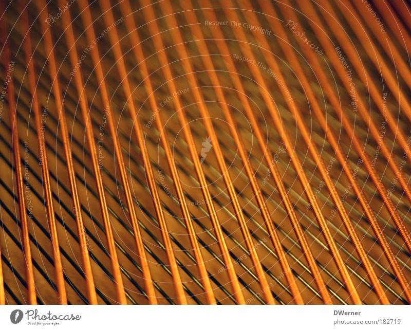 piano Style Design Concert Opera Opera house Musician Orchestra Piano Listening Sound Musical instrument string Grand piano Orange Metal Copper Colour photo