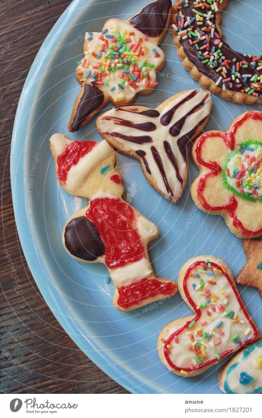 *Christmas cookies* Detail II Food Dough Baked goods Candy Chocolate Nutrition To have a coffee Vegetarian diet Slow food Finger food Plate Handcrafts