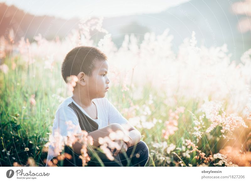 scared and alone, young Asian child Human being Child Nature Landscape Life Lifestyle Art Fear Infancy Adventure Artist 3 - 8 years