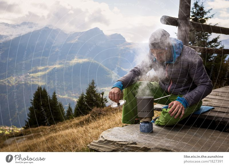 Nature Youth (Young adults) Young man Relaxation Calm Far-off places Mountain Adults Life Autumn Freedom Masculine Contentment Hiking Trip To enjoy