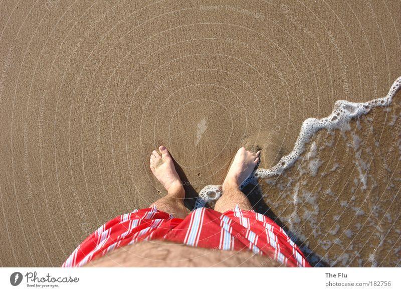 Human being Man Water Vacation & Travel Summer Sun Ocean Beach Adults Coast Sand Legs Feet Brown Swimming & Bathing Waves