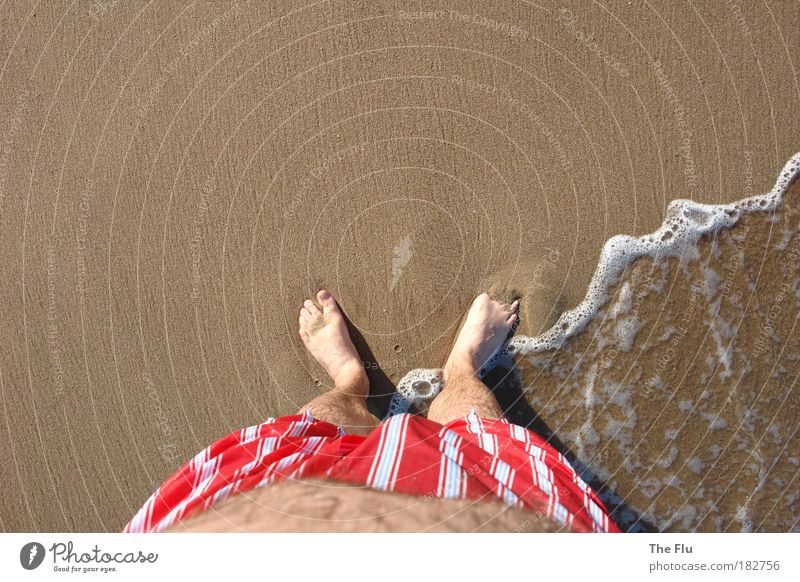 Human being Man Water Vacation & Travel Summer Sun Ocean Beach Adults Coast Sand Legs Feet Brown Swimming & Bathing Waves