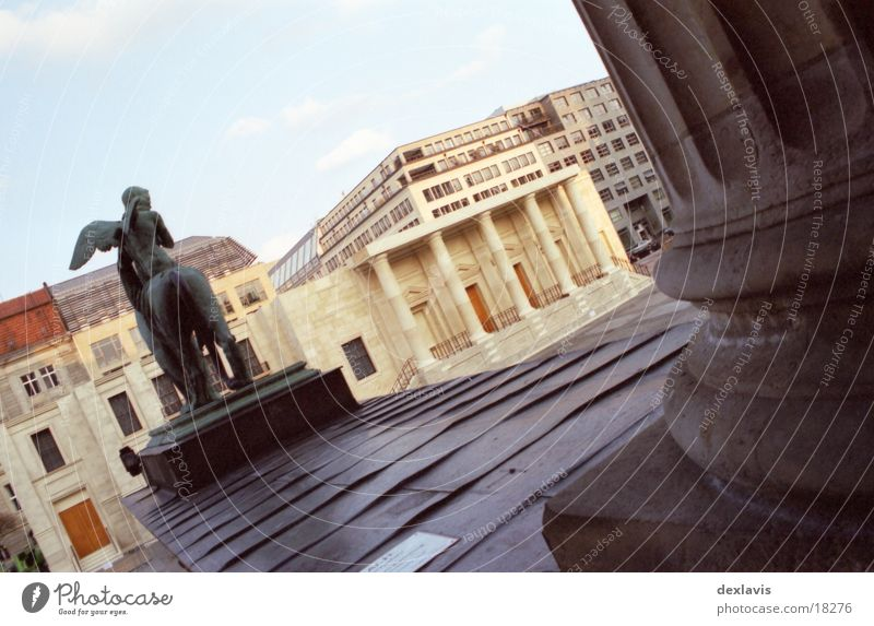 Berlin Architecture Angel Theatre Sculpture Column Dome Lion Set Religion and faith Berlin Concert House Gendarmenmarkt