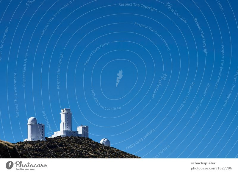 Tenerife Observatory Science & Research Astronomy Nature Landscape Sky Cloudless sky Mountain Island Canaries Manmade structures Building Research station