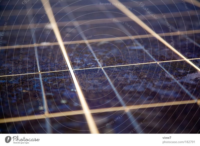 Silicon Detail Colour photo Deserted Evening Shallow depth of field Bird's-eye view Energy industry Renewable energy Solar Power Energy crisis Line Stripe Thin