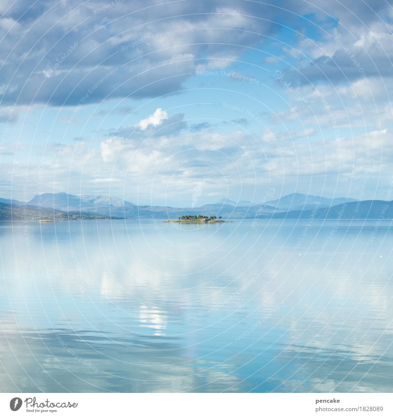 Sky Blue Water Ocean Landscape Loneliness Clouds Mountain Small Happy Earth Free Air Island Fantastic Beautiful weather