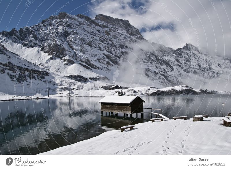 Nature Water Winter Snow Lake Landscape Switzerland Environment Might House (Residential Structure) Hut Snowscape Canton Obwalden Engelberg