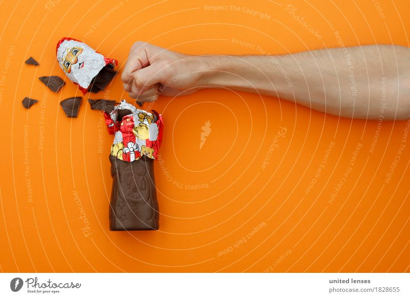 AKDR# Christmas muffle meets Santa Claus Art Work of art Esthetic Christmas & Advent Chocolate Chocolate Santa Claus Broken chocolate Force Massive Dictatorship