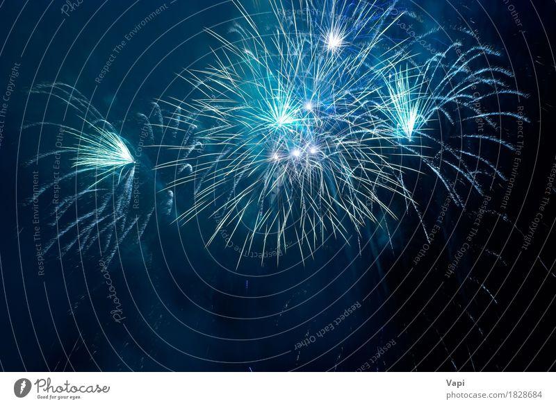 Blue fireworks Sky Blue Christmas & Advent Colour White Joy Dark Black Art Feasts & Celebrations Design Pink Bright Birthday New New Year's Eve