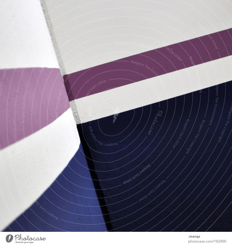 White Blue Abstract Line Architecture Design Elegant Success Concrete Corner Round Simple Violet Clean Stripe Illustration