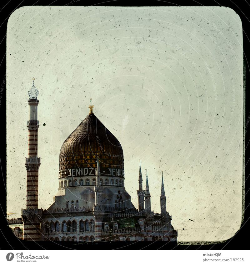 Old Islam Style Saxony Religion and faith Malaya Pattern Roof Culture Dresden Restaurant Abstract Historic Landmark Belief Fairy tale