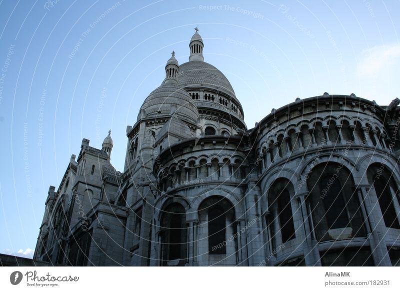 sacre coeur Colour photo Exterior shot Deserted Day Worm's-eye view Tourism Sightseeing City trip Paris France Europe Capital city Church Tourist Attraction