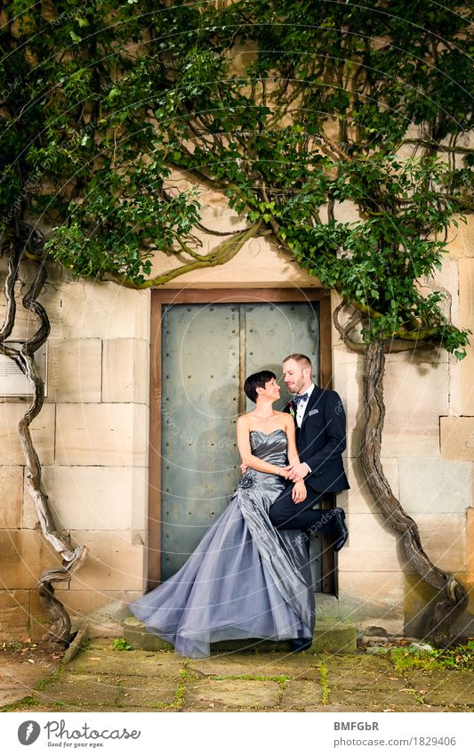 The most beautiful day - modern dream wedding in a silver dress Lifestyle Elegant Style Happy Going out Feasts & Celebrations Wedding Human being Masculine
