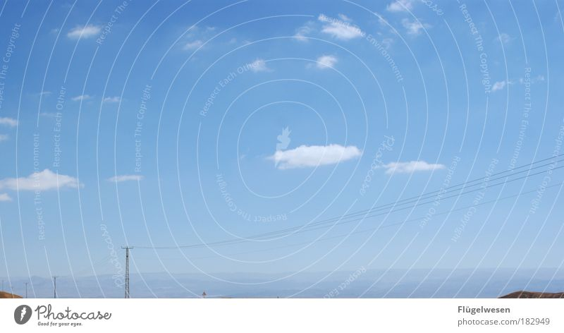 Sky Vacation & Travel Sun Joy Clouds Mountain Emotions Happy Free Electricity pylon Sky blue Israel Jordan Negev