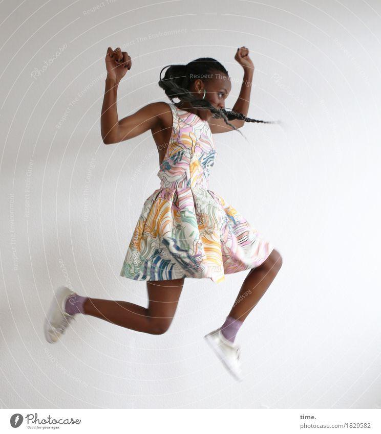 Human being Beautiful Joy Life Movement Sports Feminine Healthy Jump Wild Elegant Power Creativity Joie de vivre (Vitality) Dress Athletic