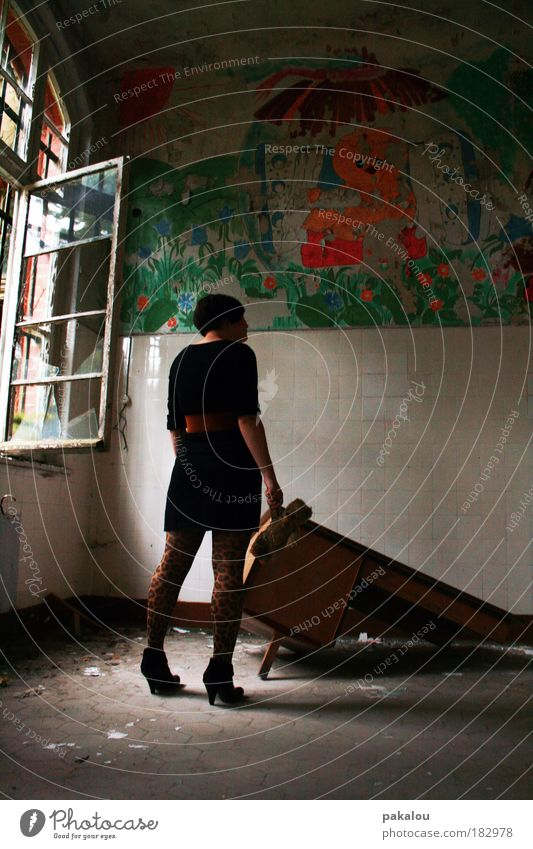 once upon a time there was a childhood ... Colour photo Interior shot Deserted Copy Space right Day Light Shadow Reflection Sunlight Long shot Full-length