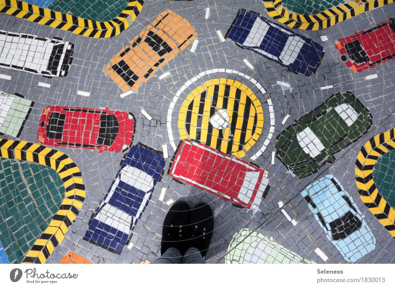 Town Street Lanes & trails Feet Transport Car Logistics Chaos Traffic infrastructure Vehicle Motoring Sneakers Closing time Crossroads Road traffic Attentive