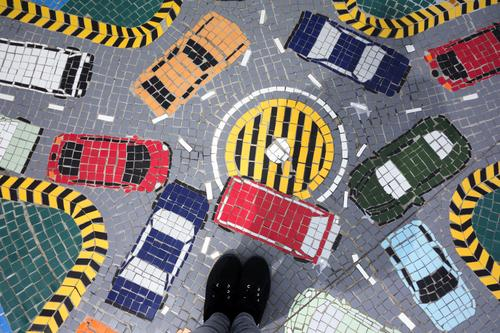 Traffic chaos Logistics Closing time Feet Town Transport Means of transport Traffic infrastructure Rush hour Road traffic Motoring Street Crossroads