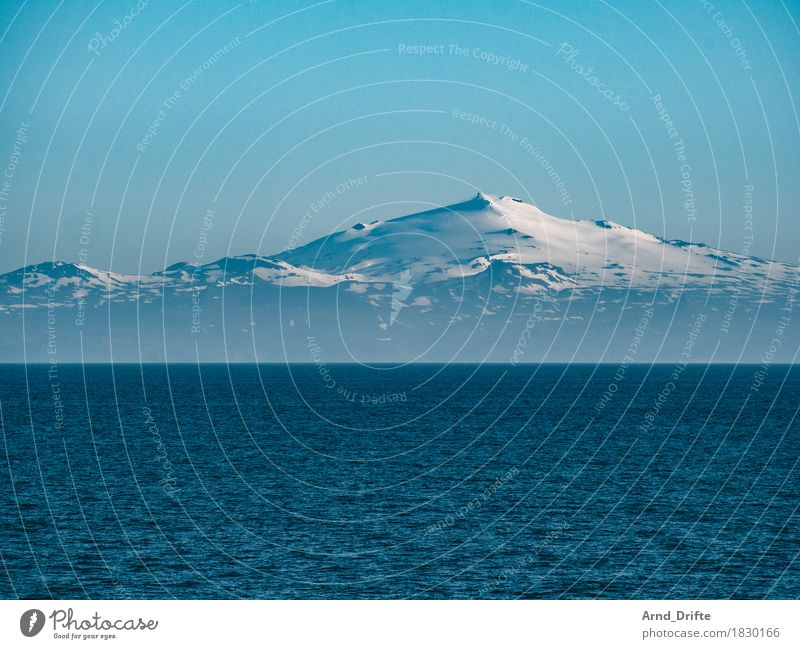 Iceland - Snæfellsjökull Vacation & Travel Trip Adventure Far-off places Freedom Sightseeing Cruise Snow Mountain Nature Landscape Elements Sky Cloudless sky